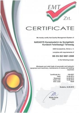 MSZ EN ISO 9001:2009